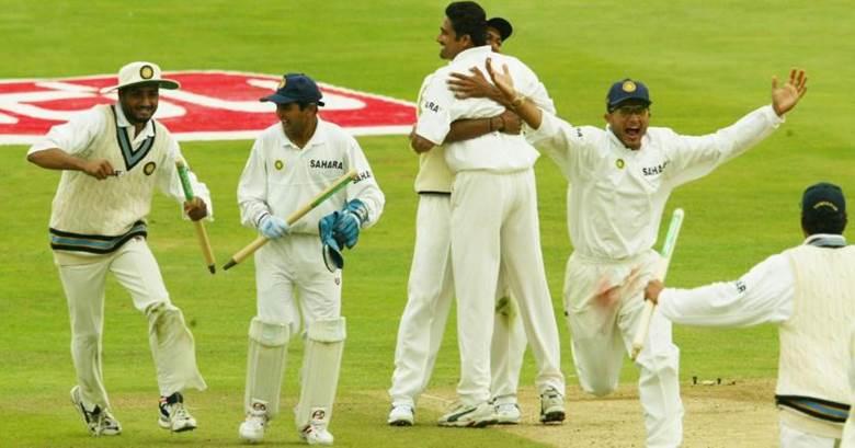 হেডিংলি টেস্ট জেতার পর ভারতীয় দলের উদযাপন; Image Courtesy: Scroll.in