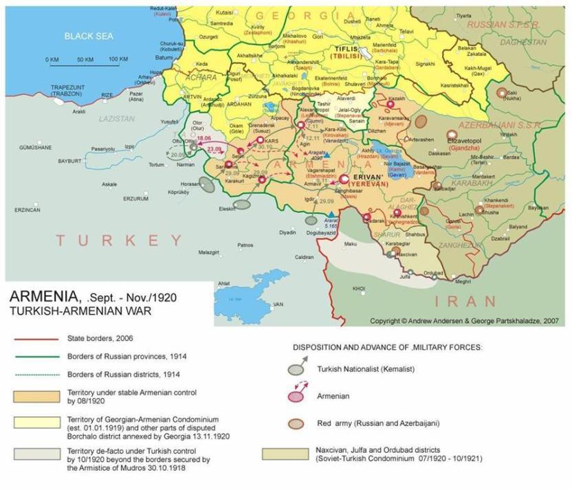 ১৯২০ সালের তুরস্ক- আর্মেনিয়ান যুদ্ধ; Image Courtesy: conflicts.rem33.com