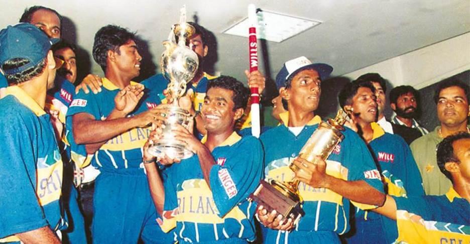 হোয়াটমোরের অধীনে ১৯৯৬ বিশ্বকাপজয়ী শ্রীলঙ্কা ক্রিকেট দল; Image Courtesy: indiatoday.in