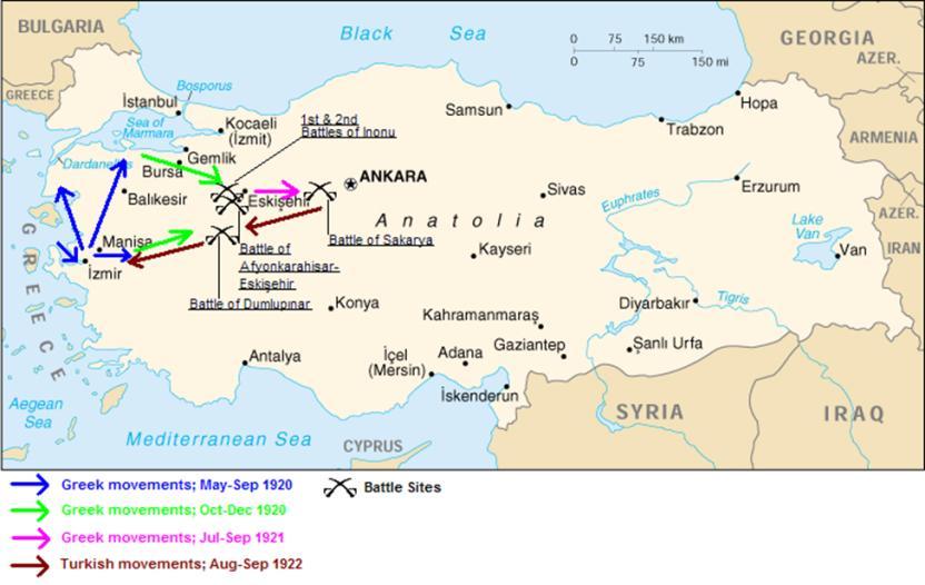 ১৯২০ থেকে ১৯২২ পর্যন্ত চলমান ছিল গ্রিক ও তুরস্কের মধ্যকার যুদ্ধ; Image Courtesy: Wikimedia.org